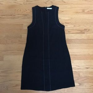 Mango Black A-line Dress